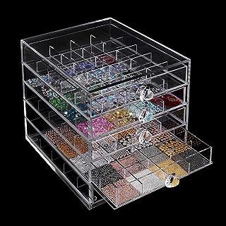 Organizador de 5 niveles para decoración de uñas, 100 soportes de acrílico transparente, para joyas, accesorios de uñas, s...