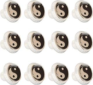 Boutons D'armoire 12 Pcs Poignés Poignée De Champignons Porte Poignées avec Vis pour Cabinet Tiroir Cuisine,Art simple yin...