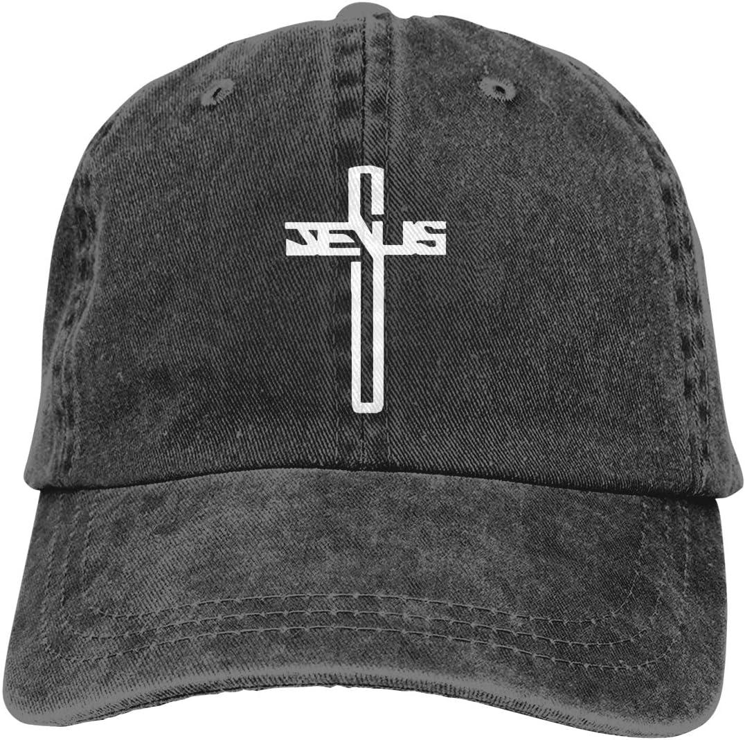 Antvinoler Men's & Women's Christian Jesus Cross Baseball Cap Vintage Washed Adjustable Funny Dad Hat