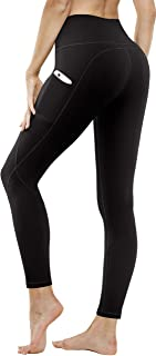 Yoga Pants with Pockets, High Waist Yoga Pants for Women Non See Through Tummy Control Workout Running Leggings