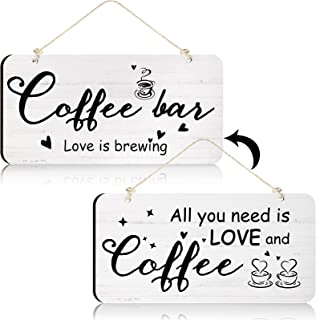 Rustic Wood Coffee Sign Rustic Home Decor All You Need is Love and Coffee Real Pallet Wood Sign Kitchen Accessories for Co...