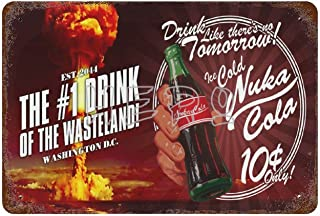 Fallo-ut Zap That Thirst Nuka Cola World Atomic Bomb Drink S Art Tin Sign 30*40cm vintage home accessories displate tin si...