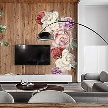 XIMIXI Adhesivo decorativo para pared, diseño de peonía
