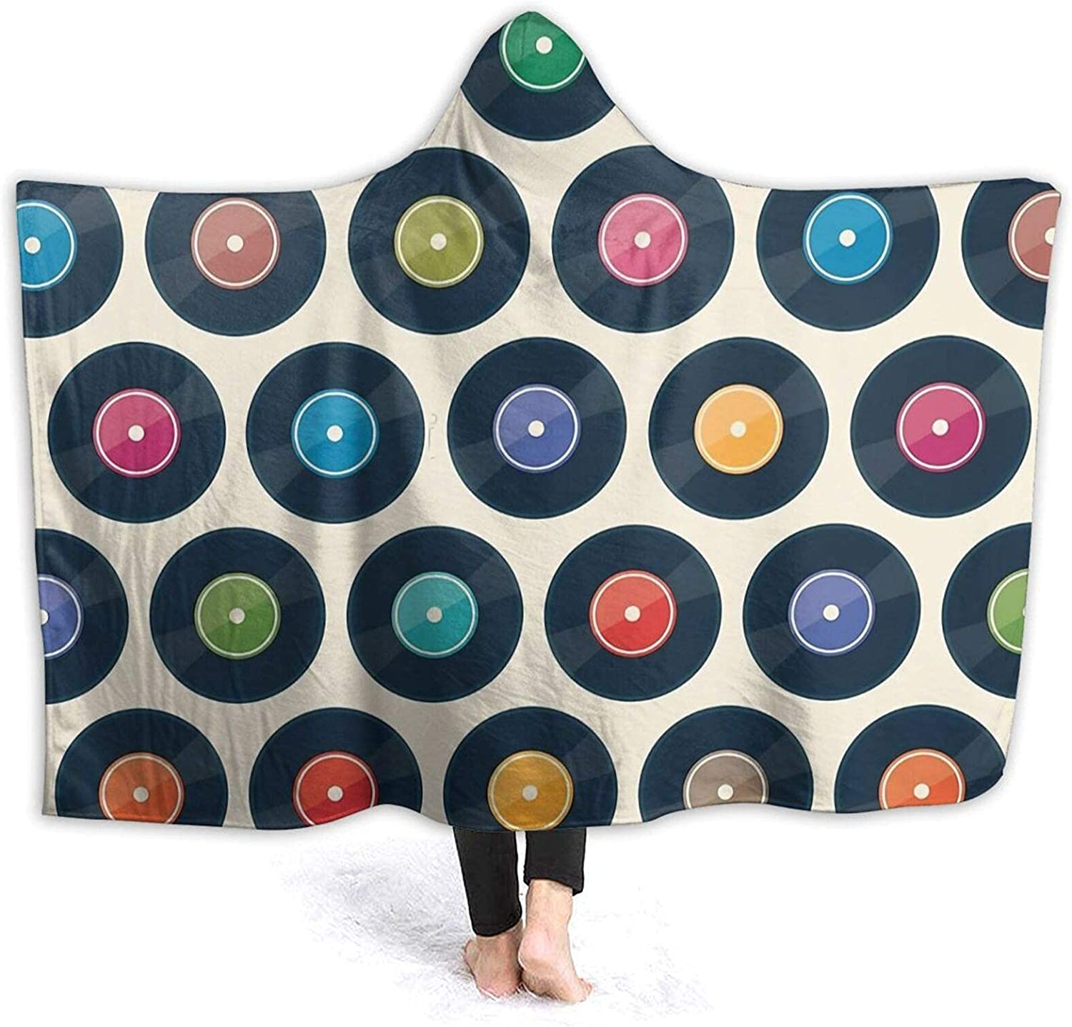 Low price Hooded Blanket 3D Vinyl Record Flee Sherpa Soft Super Collection Clearance SALE Limited time