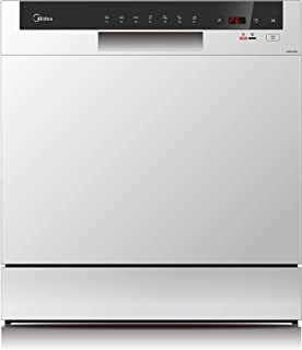 Midea WQP83802F Silver Color 8 Place Portable Dishwasher, 1 Year Warranty