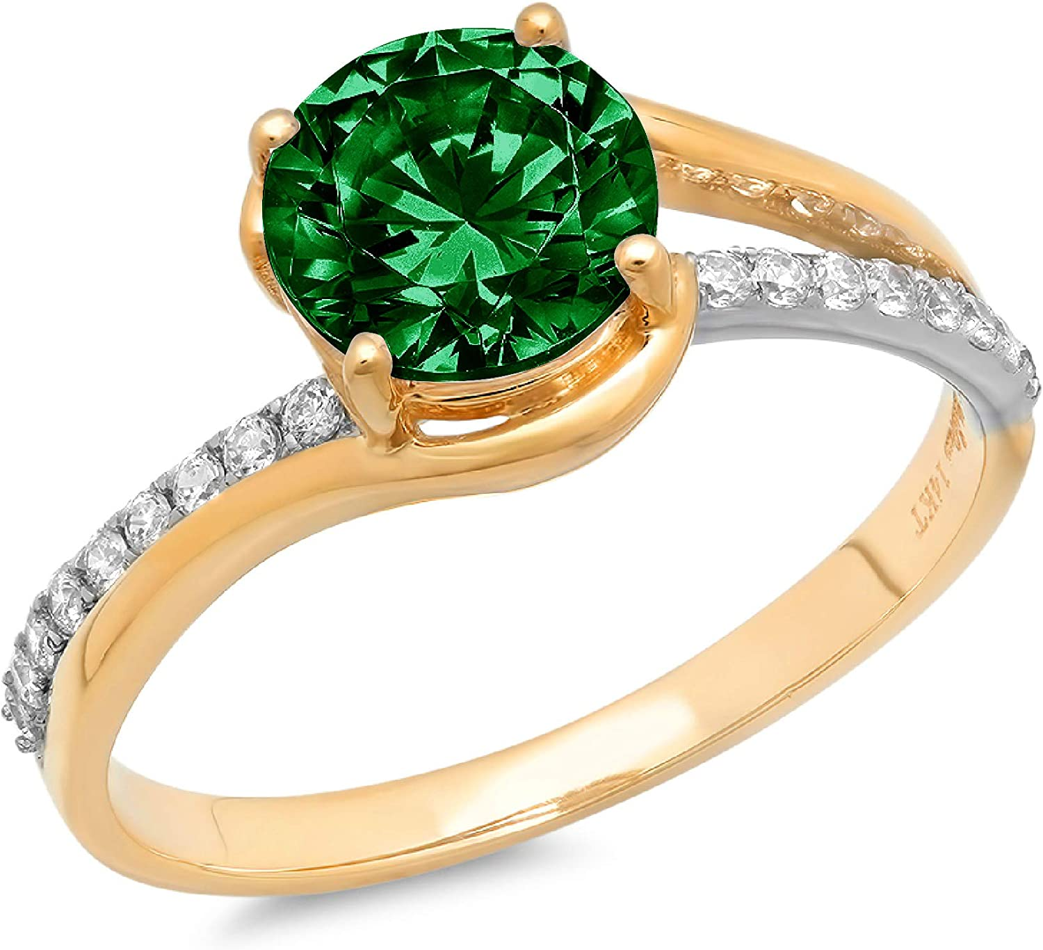 Indefinitely 1.9ct Excellence Brilliant Round Cut Solitaire Simulated Green CZ Flawless