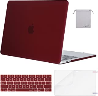 MOSISO MacBook Pro 13 inch Case 2019 2018 2017 2016 Release A2159 A1989 A1706 A1708, Plastic Hard Shell &Keyboard Cover &Screen Protector &Storage Bag Compatible with MacBook Pro 13, Marsala Red