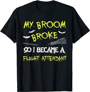 Flight Attendant Halloween Costume Shirt Funny Easy Lazy T-Shirt
