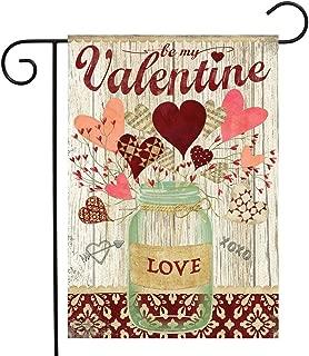 Briarwood Lane Lovely Hearts Valentine's Day Garden Flag Mason Jar 2.5