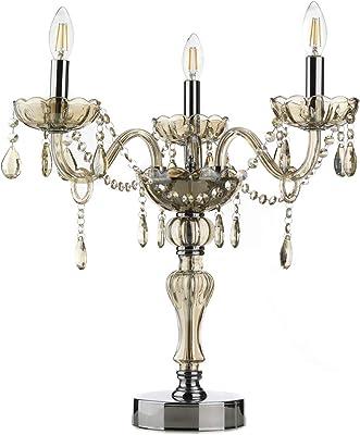 ONLI Lampada Grande Linda Cristallo 3xE14, Ambra