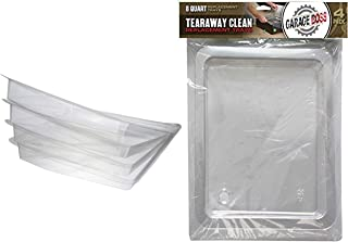 A.T. Products Corp. GarageBOSS Tear Away Clean Oil Drain Pan, 8-Quart Bundle with Garage Boss 16-Quart Tearaway Drain Pan Clean Replacement Tray, 4-Pack