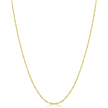 17 Inch Olympia Gold Sterling Silver 2mm Open Link Jewelry Necklace