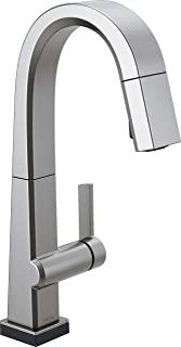 Delta Faucet Pivotal Single-Handle Bar-Prep Touch Kitchen Sink Faucet with Pull Down Sprayer, Touch2O Technology and Magne...