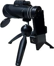 Monocular Telescope 12x50 High Power Waterproof Better Prism BAK4 with Phone Mount & Tripod Monocular Compact Fogproof Shockproof Scope FMC Monoculars for Birdwatching, Hiking, Wildlife, Concerts