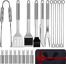 Love begans 21 PCS BBQ Grillbesteck Tool Set Tragbar Edelstahl Grillbesteck Set Grillkoffer Grillzubeh/ör f/ür M/änner