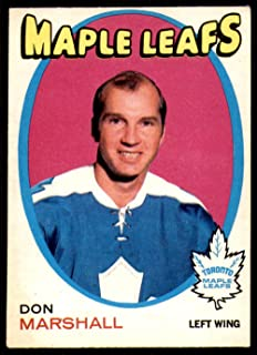 1971 O-Pee-Chee Regular (Hockey) card#199 Don Marshall of the Toronto Maple Leafs Grade Excellent