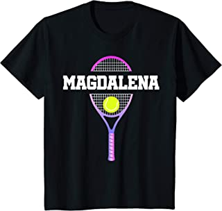 Kids Tennis Girl Magdalena Birthday T-Shirt Racket Kid's Name