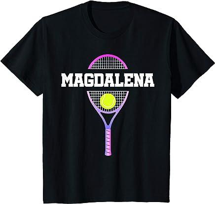 Kids Tennis Girl Magdalena Birthday T-Shirt Racket Kid's Name