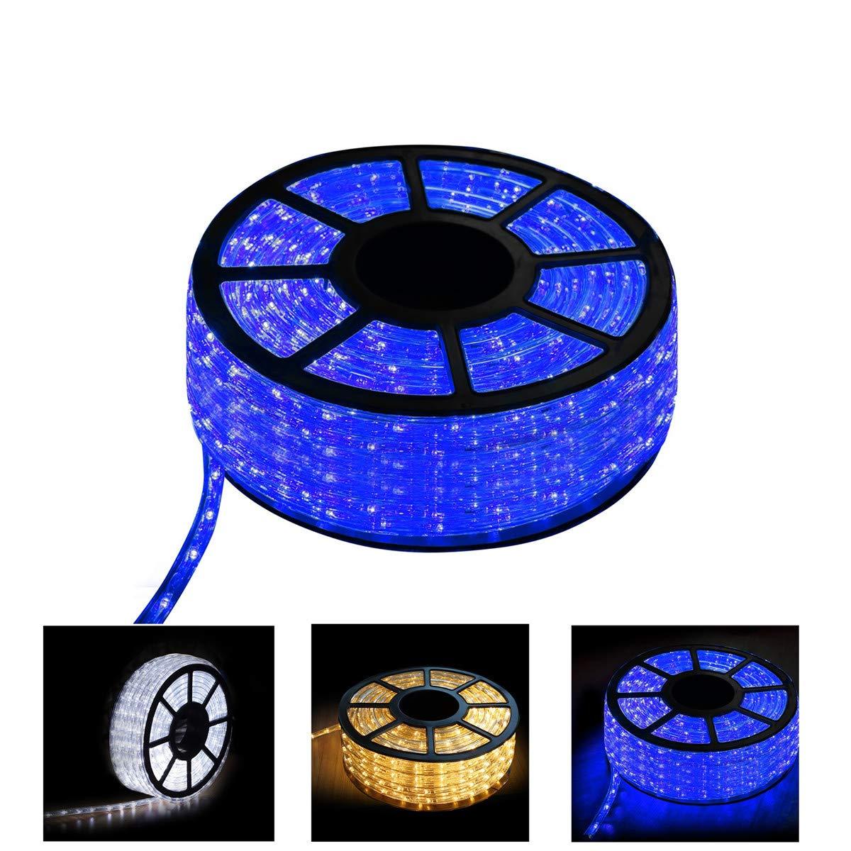 GREARDEN LED Rope Lights, 150FT 45M 110V 1620LEDs Waterproof Led Strip Lights for Party Christmas Home Kitchen Bedroom Room Indoor Outdoor Decoration (Blue, 150)