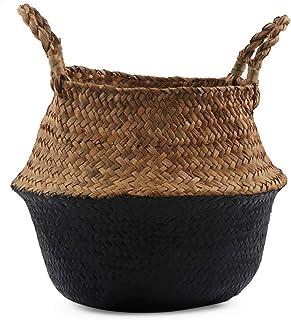 Boîte de rangement Paniers plantes tissu tissé panier panier de stockage for le stockage ou utilisation for plantes en pot...