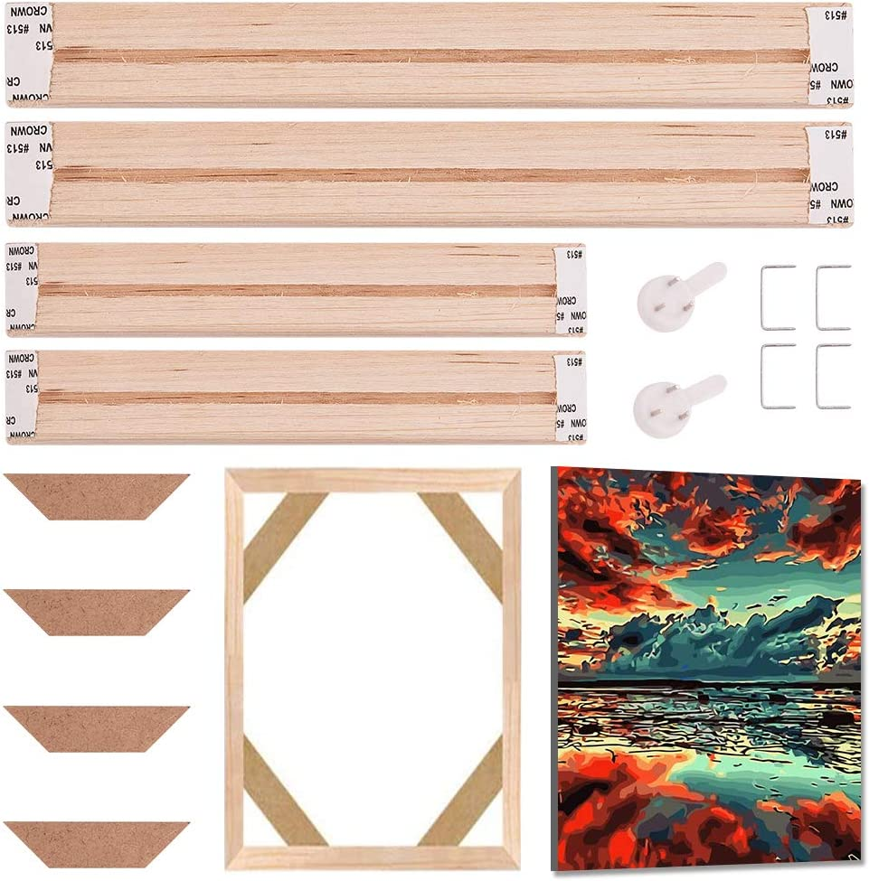 GORGECRAFT 12 Max 42% OFF x 8 Solid Canvas 100% quality warranty Frames Pine Premium Stretcher Woo