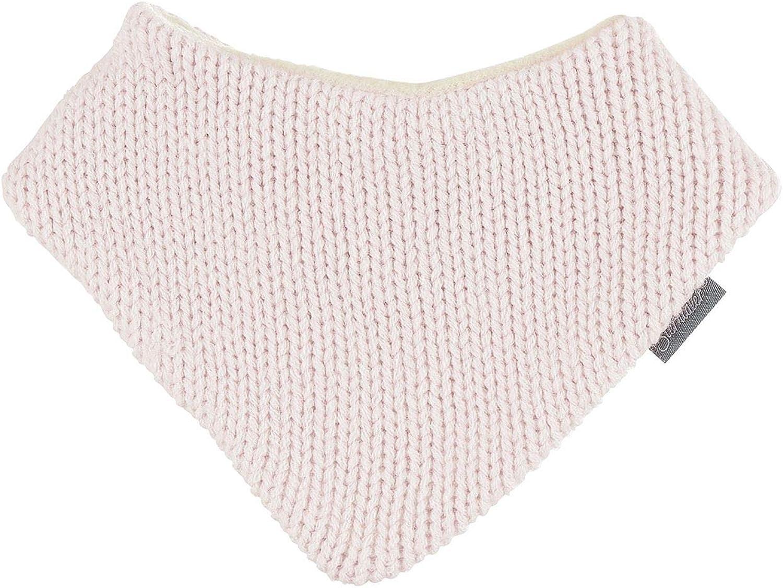 rosa M/ädchen Baby Winter Dreieckstuch gef/üttert Microfleece mit Klettverschluss einfarbig gestrickt 4102070-rosa Sterntaler