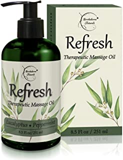 Sponsored Ad - Refresh Massage Oil with Eucalyptus & Peppermint Essential Oils - Great for Massage Therapy. Stress Relief ...