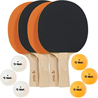 Rally and Roar Table Tennis Set – 2 and 4 Player Options – Classic or Premium – 5-ply Blade Soft Rubber Paddles, Ideal for Professional or Recreational Play
