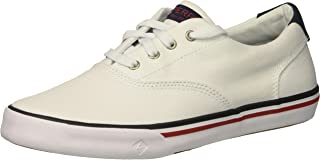 [Sperry] Striper Ii White Ankle-High Canvas Fashion Sneaker - 13M