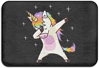 Soft Non-slip Unicorn Cute Dabbing Funny Dab Dance Gift Bath Mat Coral Rug Door Mat Entrance Rug Floor Mats For Front Outs...
