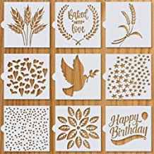 Artisan Bread Stencils | Bread, Cake, Pie, or Cookie Stencils (Set of 9) for Decorating Your Own Unique Design | Baking St...