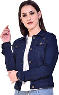 Shabana Creation Women's Cotton Stretch Casual Denim Jacket