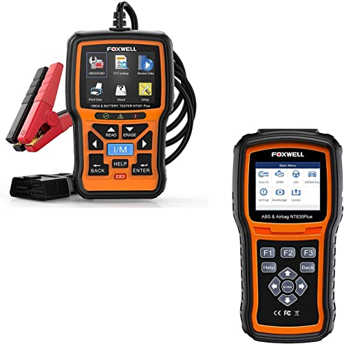 wholesale FOXWELL ABS Scanner NT630 Plus ABS Bleed Scan Tool and NT301 Plus Car Scanner with 12V sale high quality Battery Tester outlet online sale