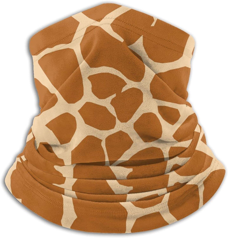 Giraffe pattern unisex winter neck gaiter face cover mask, windproof balaclava scarf for fishing, running & hiking