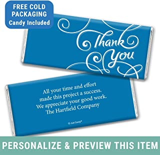 Thank You Gifts Personalized Hershey Chocolate Bars (12 Count) Royal Blue