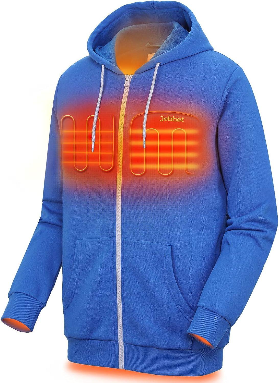 Unisex Heated Hoodie for Men and Women Heavyweight Fleece Hooded Sweatshirt