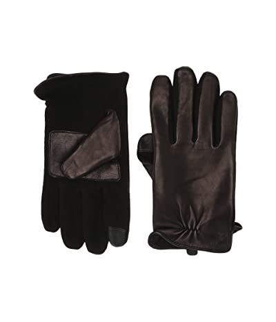 Polo Ralph Lauren Nappa Hybrid Gloves with Vent (Black) Over-Mits Gloves