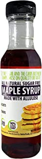 Sugar Free Maple Syrup Made with Allulose (All Natural Non-GMO Low Calorie Zero Net Carb Keto Diabetic Friendly No Sugar Alcohol Soy Free Gluten Free Breakfast Pancake Waffle Syrup)