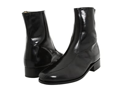 Nunn Bush Bristol Side Zip Ankle Boot (Black) Men