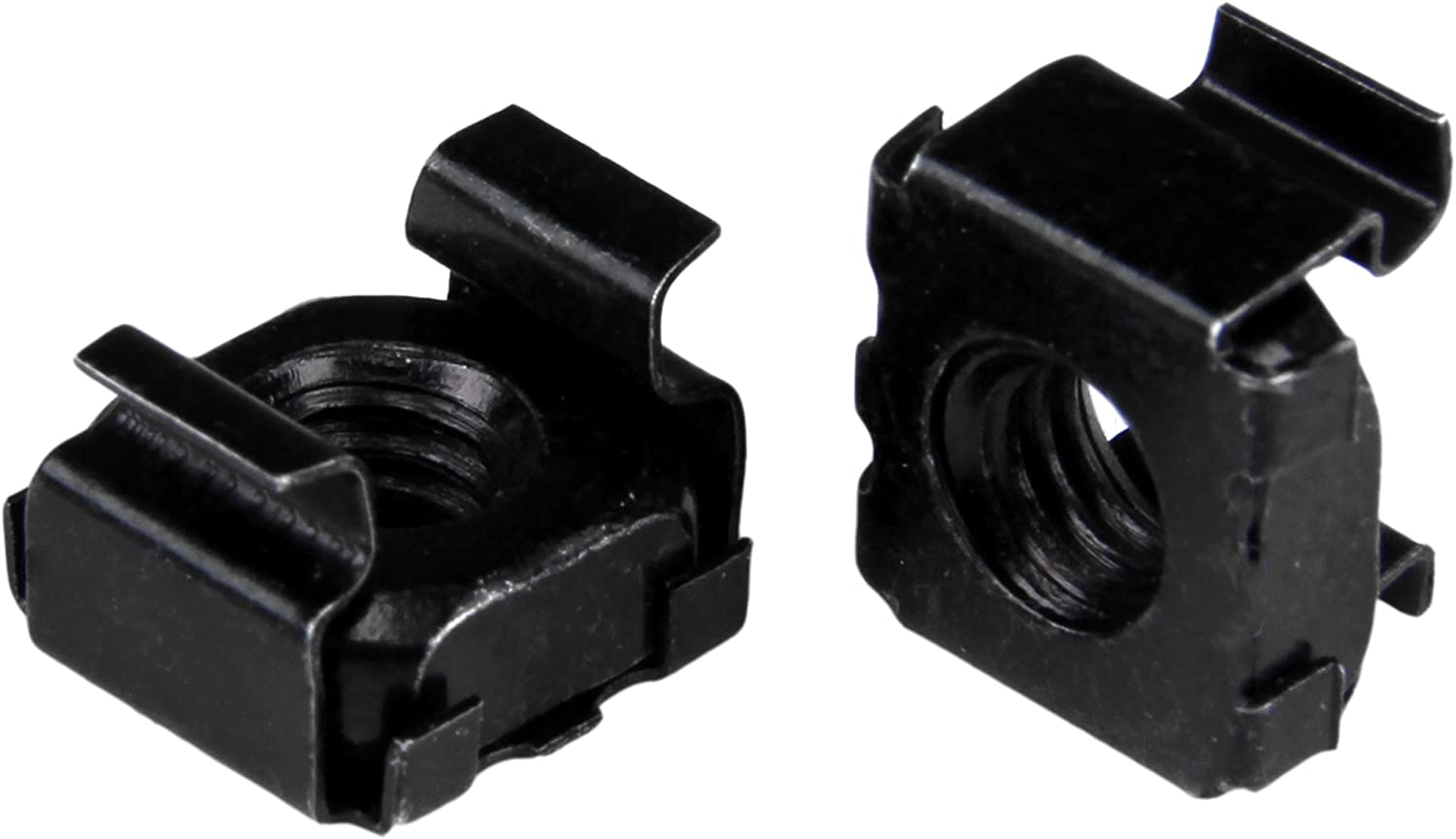 StarTech.com M5 Cage Nuts - 100 Pack, Black - M5 Mounting Cage Nuts for Server Rack & Cabinet (CABCAGENUT2B) Black Cage Nuts