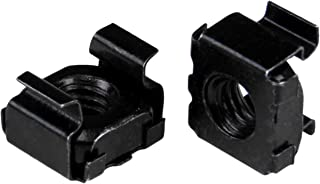 StarTech.com M5 Cage Nuts - 100 Pack, Black - M5 Mounting Cage Nuts for Server Rack & Cabinet