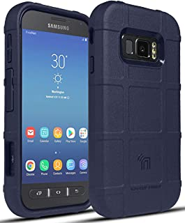 Case for Galaxy XCover FieldPro, Nakedcellphone [Navy Blue] Special Ops Tactical Armor Rugged Shield Phone Cover [Anti-Fin...