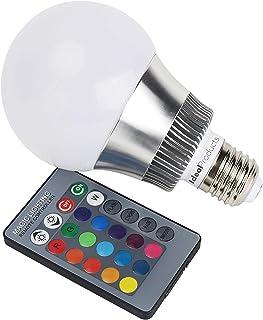 Ideal Products Bombilla Led de 16 colores con mando a distancia, 10W (equivale a 40-60W bombilla normal) y rosca tipo E27. Ambiente Romántico con un