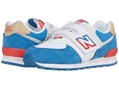 New Balance Kids 574 Split Sail (Infant/Toddler) (Mako Blue/Toro Red 1) Boy