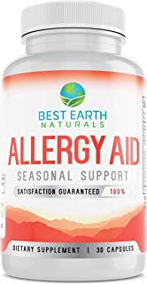 Allergy Aid - Non Drowsy Natural Support for Indoor & Outdoor Seasonal Allergies Congestion & Sinus Relief