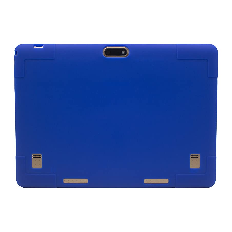 Transwon Silicone Case Compatible with BeyondTab Android Tablet 10.1, Dragon Touch K10, TenYiDe 10.1, YELLYOUTH 10, Wecool 10.1, Yuntab K107, BENEVE 10.1, Victbing 10.1, BATAI 10, Lectrus 10 - Navy