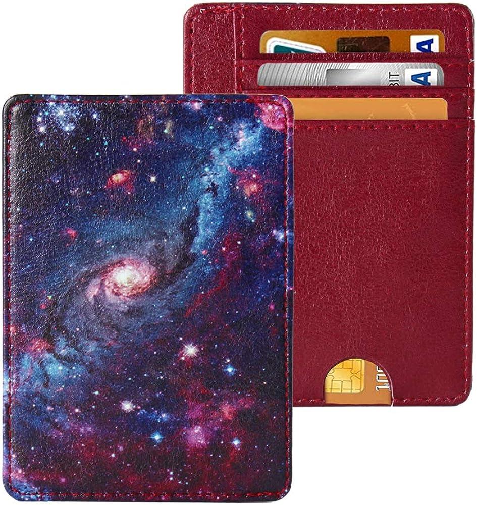 LIZIMANDU Slim Minimalist RFID Leather Wallets,Front Pocket Wallet,Credit Card Holder for Men & Women,Money Clip