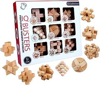 BOROK Rompecabezas Madera, 9 Pack 3D Puzzles Adultos Juegos de Ingenio Juegos de Mesa Juego IQ Juguete Educativos Habilidad Juego Logica Calendario de Adviento Niños