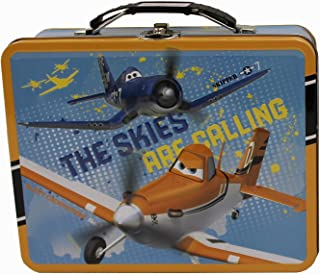 Disney Planes Skipper & Dusty 3D Effect Raised Embossed Tin Lunch Box/Storage Tin