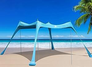 سایبان چادر ساحلی BOTINDO ، سایبان سایبان 4 قطب با کیسه حمل ساحل ، ماهیگیری ، حیاط خلوت ، کمپینگ و فضای باز